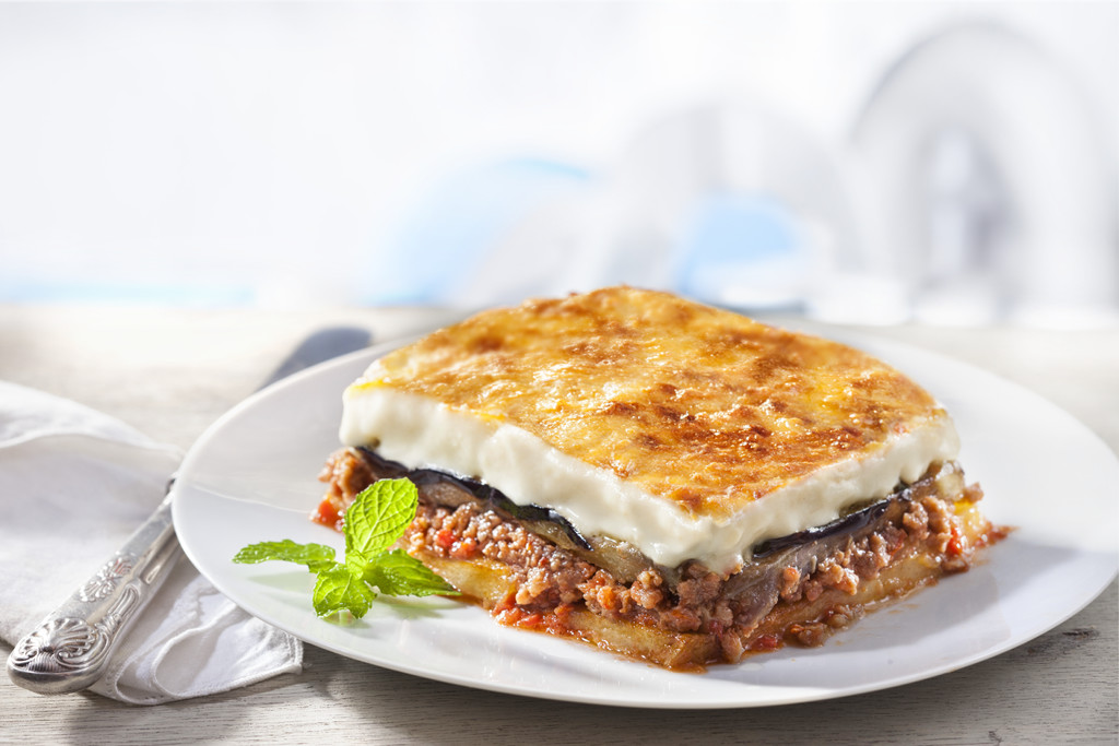 Moussaka in Plastic tray