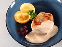 Pork fillet with tahini sauce